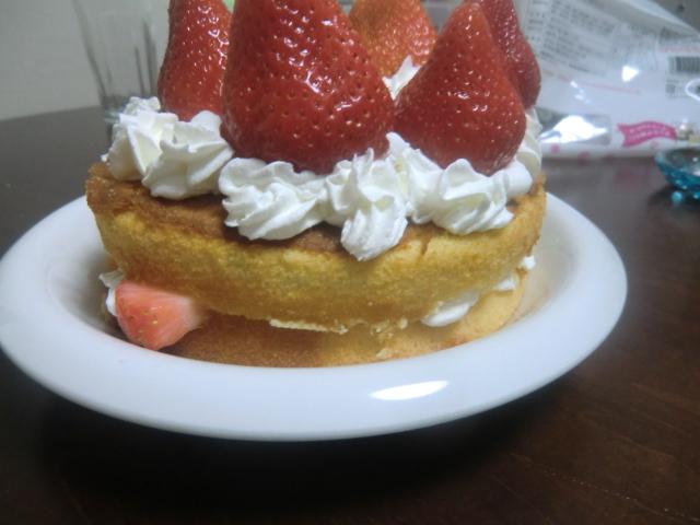 手作りケーキ側面