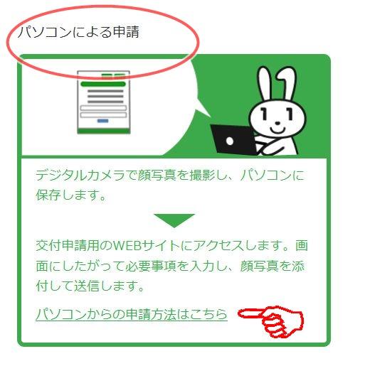 パソコンによる申請