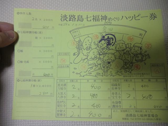 七福神めぐりのハッピー券