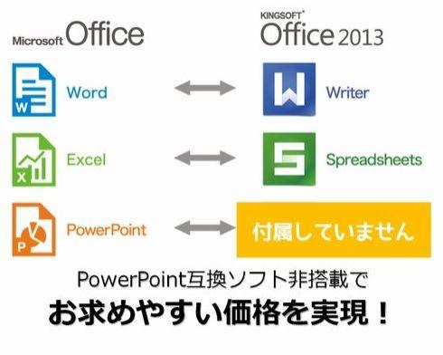 Officeソフトの互換性
