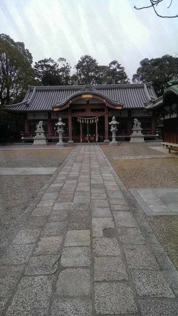 百済王神社の拝殿