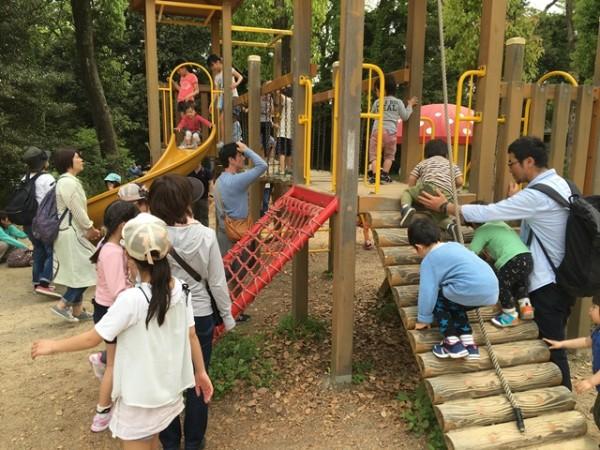 京都府立植物園のアスレチック