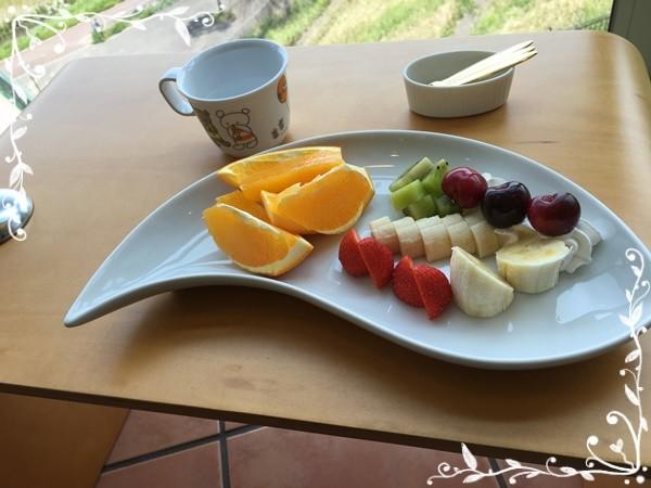グリーンズカフェのフルーツ盛り合わせ