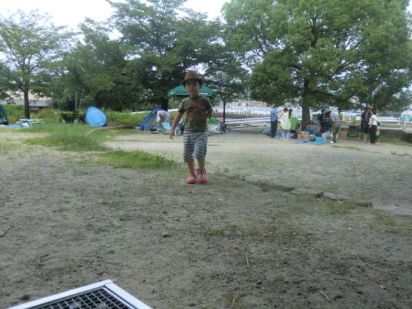 芥川緑地でのバーベキュー