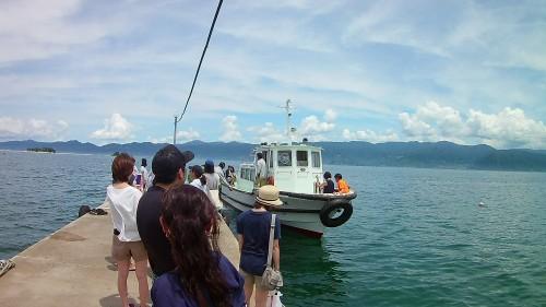 水島への船