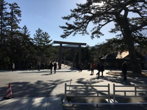 伊勢神宮の内宮入口