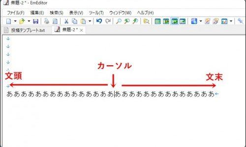 PC文字入力を速くするコツ【Home・End】キー