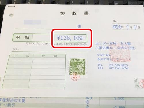 ヴォクシー車検の金額