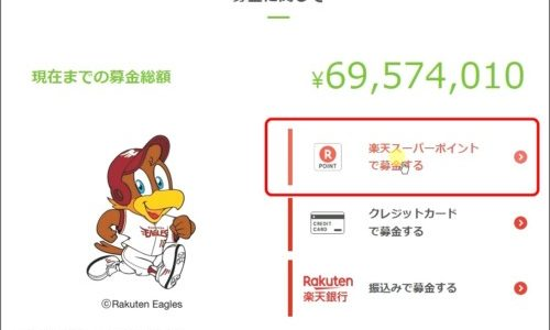 楽天ポイントで【西日本豪雨被害】の募金をやってみた!