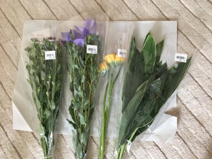 買ってきた花