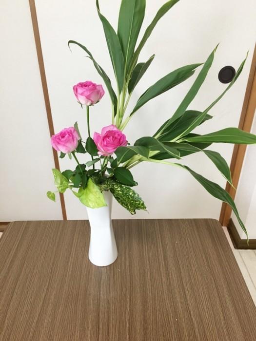生け花ドラセナ