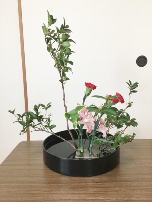 つばき 生け花