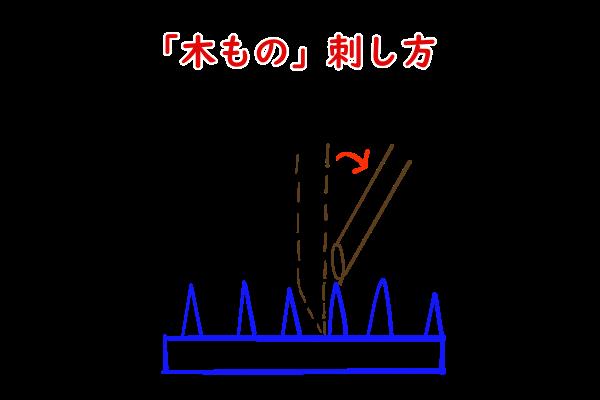 枝の刺し方