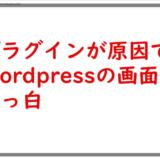 プラグインが原因でWordpressの画面が真っ白