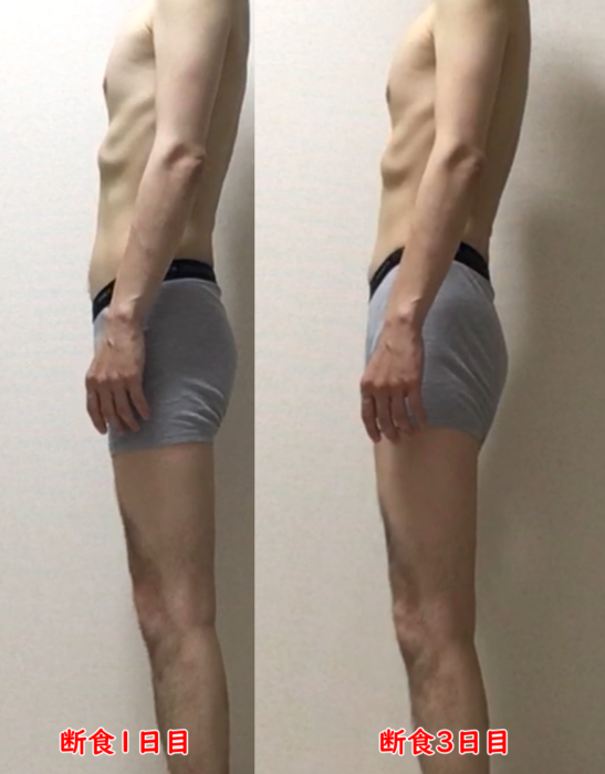 断食の前後 画像 男性