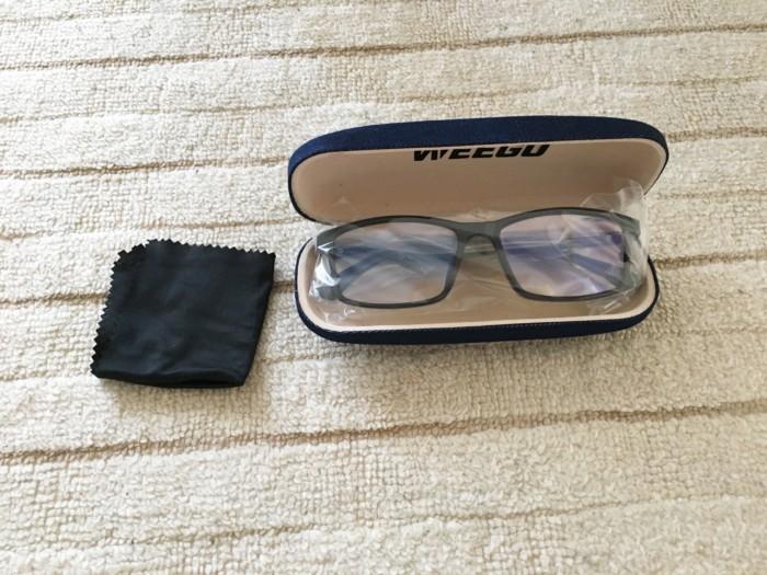 WEEGUのブルーライトメガネ新品