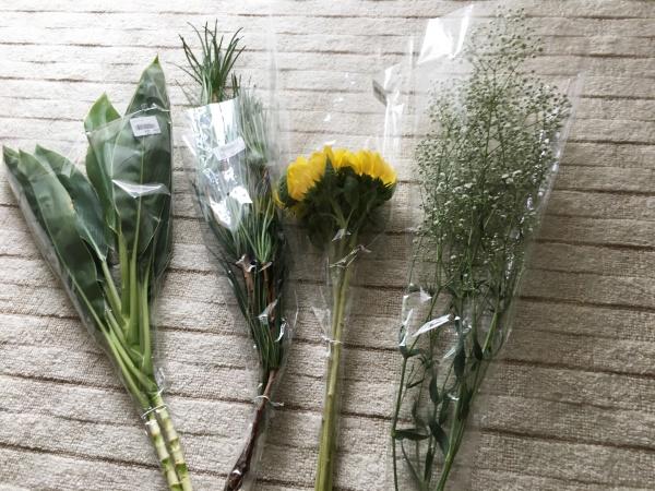 買ってきたお花