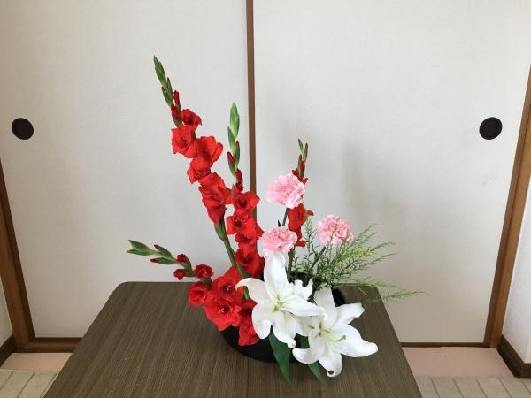 グラジオラス 生け花