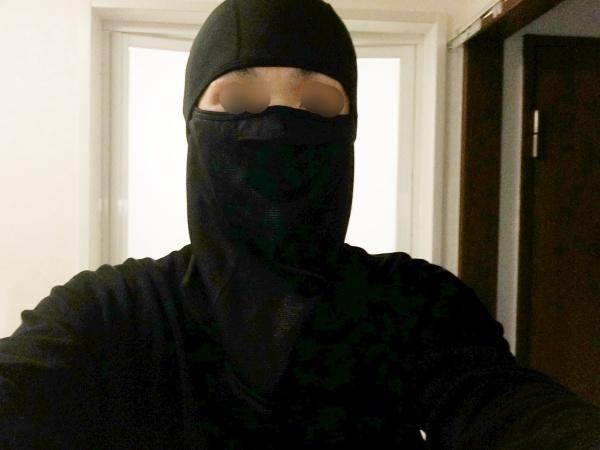 Unigear フェイスマスクを被ったところ