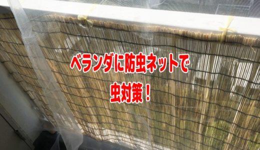 ベランダ「防虫ネット」予算5000円で取り付ける方法(カメムシ対策)